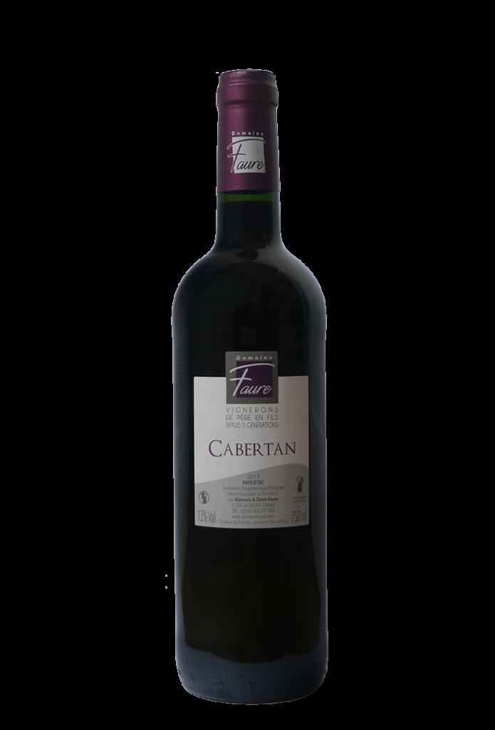 Bouteille de Cabertan, vin rouge du Domaine Faure
