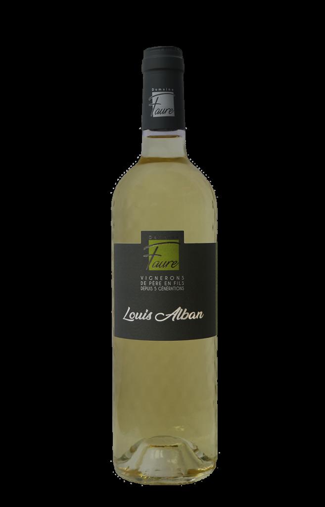 Bouteille de Louis Alban, vin blanc du Domaine Faure