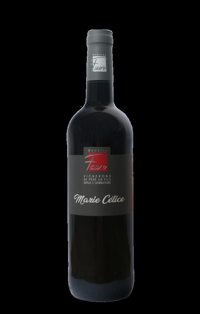Bouteille de Marie Célice, vin rouge du Domaine Faure